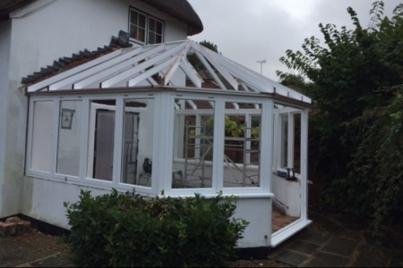 Starting to take shape, the roof lantern and conservatory.