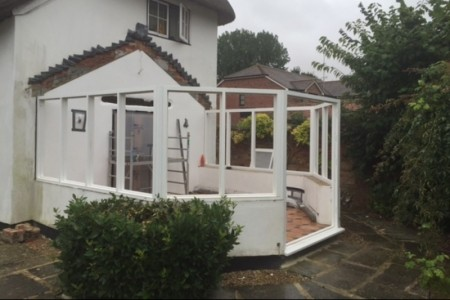 The conservatory, ready for the roof lantern to be installed