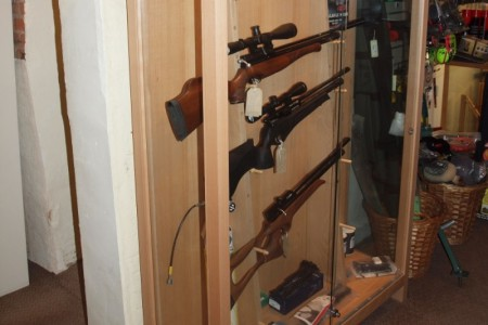 Gun cabinet manufactured for a business premises